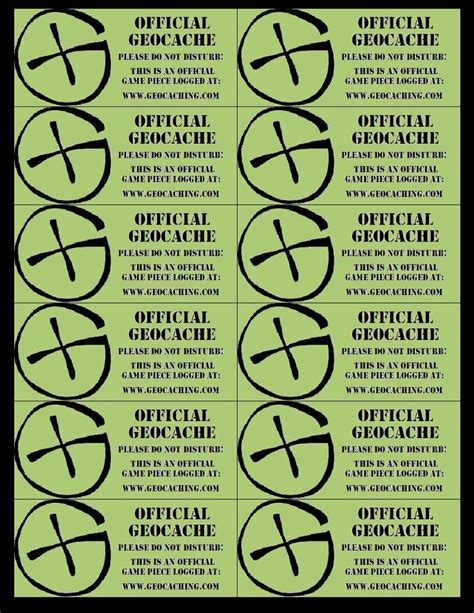 printable geocache label 85 best images about geocaching freebies to print on