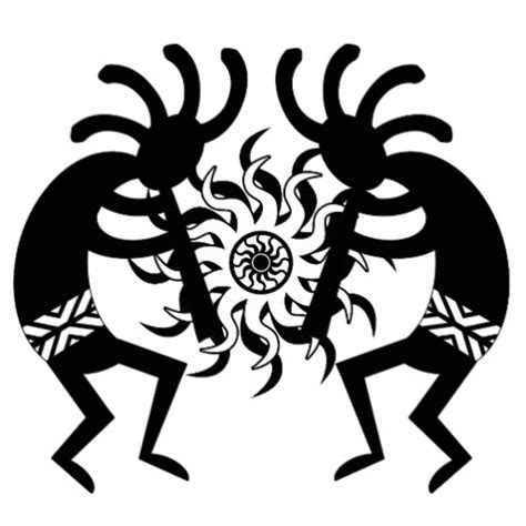 tribal kokopelli tattoo designs black and white southwest kokopelli tribal sun standing