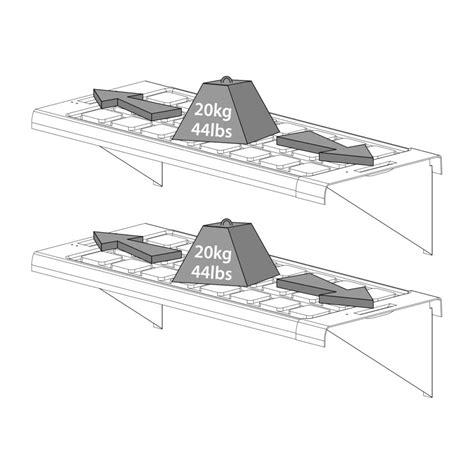 etagere 125 cm etag 232 re l125 cm pour serre palram 65x30x6 cm