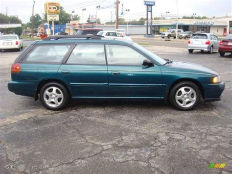 green subaru hatchback 1999 spruce green pearl subaru legacy l wagon 18368303