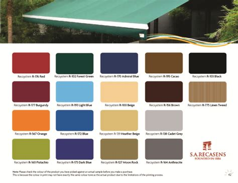 Outdoor Awnings Retractable Retractable Awnings Singapore Color Chart