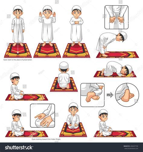 Carpet Set Animasi 1 complete set muslim prayer position guide stock vector