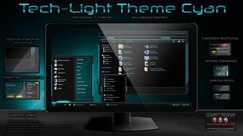 themes for windows 7 technology tech light windows 7 theme pack