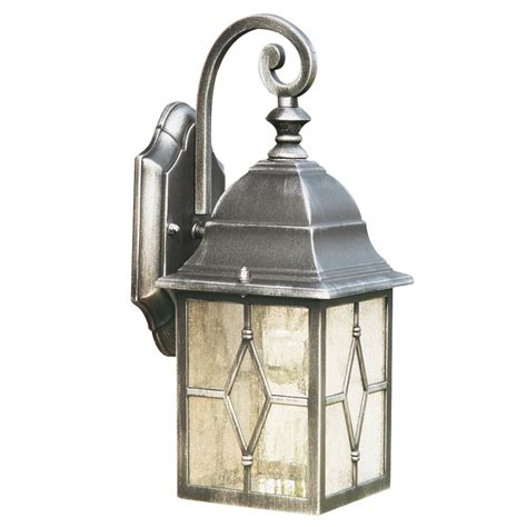 Outdoor Lantern Lights Uk Genoa Antique Black Silver Garden Wall Lantern Ip44