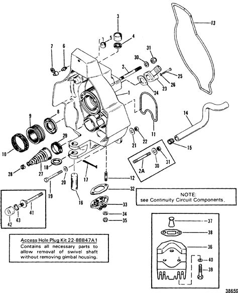 one parts gimbal housing for mercruiser bravo i ii iii sterndrive