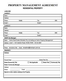 Template Property property management agreement 8 free documents in pdf