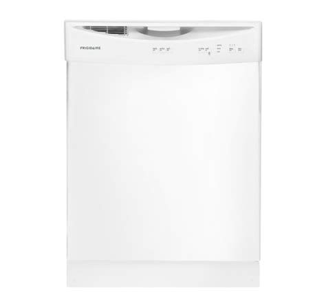 frigidaire dishwasher no lights ffbd2406nw frigidaire built in front control dishwasher