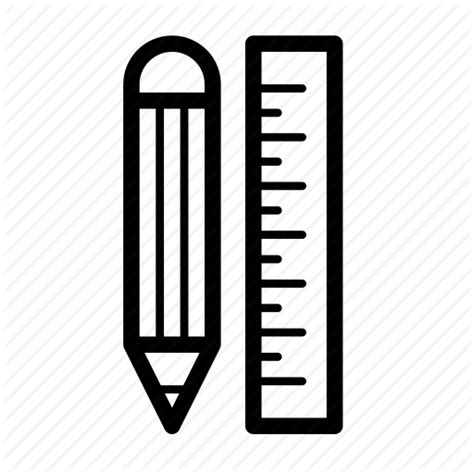 sketchbook icon document graphic pencil ruler sketch icon icon