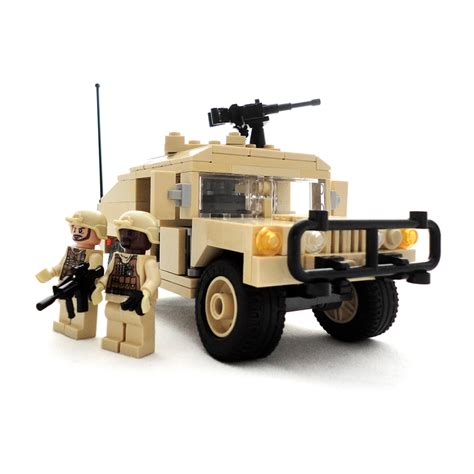 lego army humvee humvee and soldier minifigures lego compatible