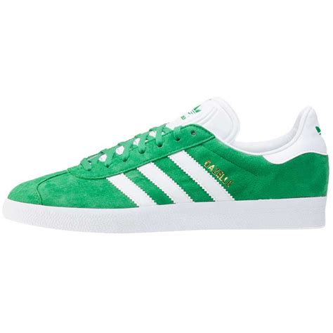 Adidas Green adidas gazelle mens trainers in green