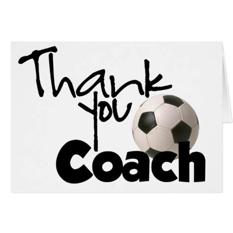 thank you card soccer coach templates thank you coach soccer greeting card zazzle