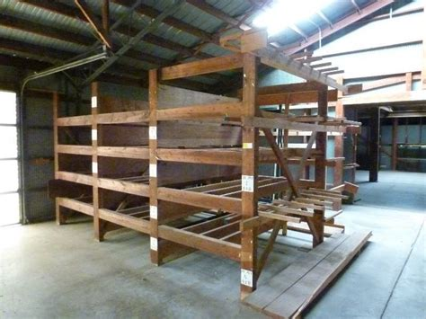 lumberyard racking and large i beam trolley system sale in