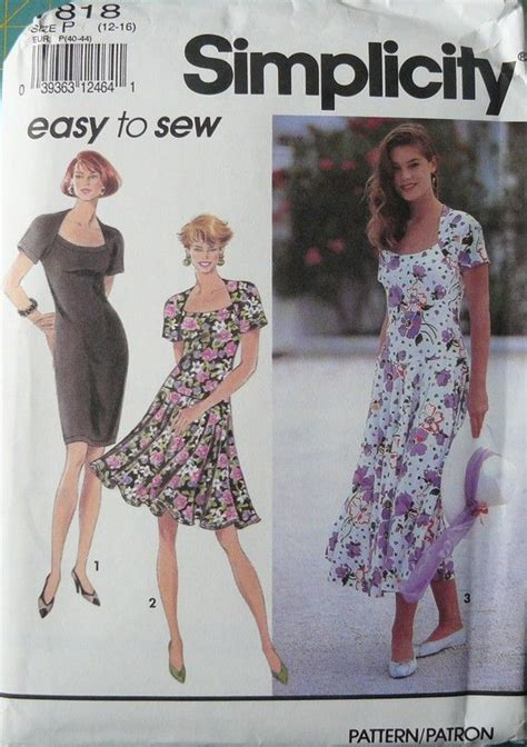 simplicity pattern ease simplicity 7818 easy to sew misses dress pattern size p
