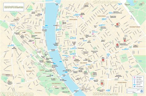 printable map budapest budapest map city center map of monuments for tourist