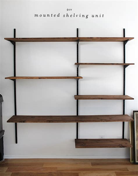 Shelf Diy by Diy Mounted Shelving Almost Makes