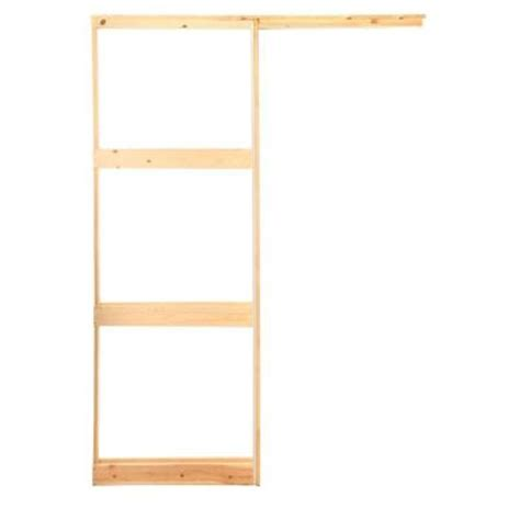 henry pocket frames 24 in knock wood pocket door