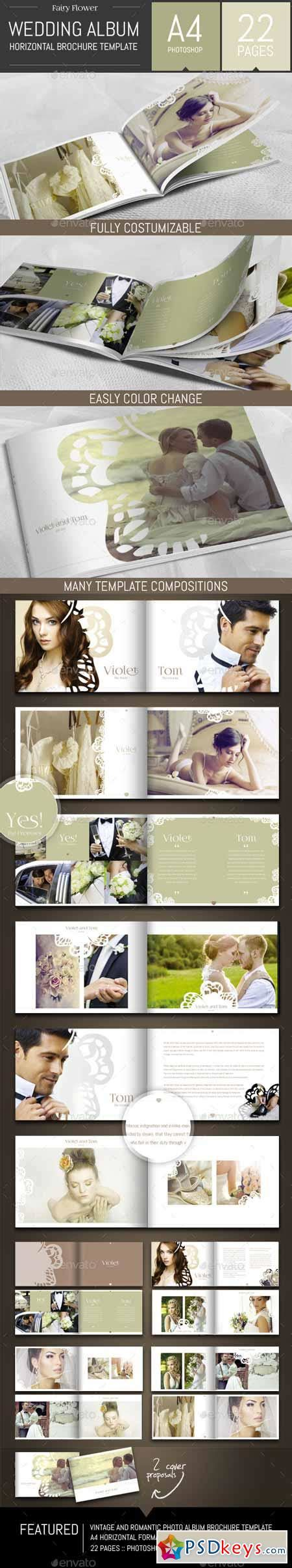 Wedding Photo Album Horizontal Brochure Template by Wedding Photo Album Horizontal Brochure Template 9255724