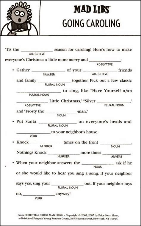 printable holiday mad libs 5 best images of free christmas mad libs printables