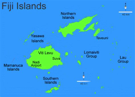 fiji islands map living travel fiji