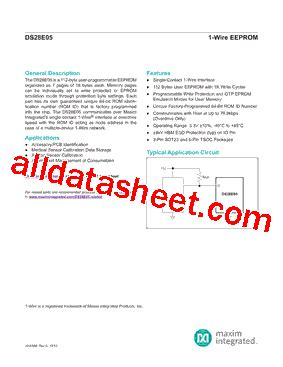 maxim integrated products email address ds28e05 datasheet pdf maxim integrated products
