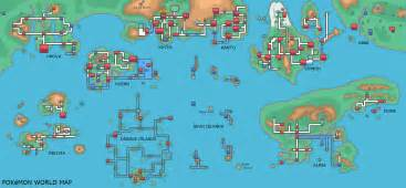Map Of The Pokemon World by Map Of Pokemon In X And Y Shiny Images Pokemon Images