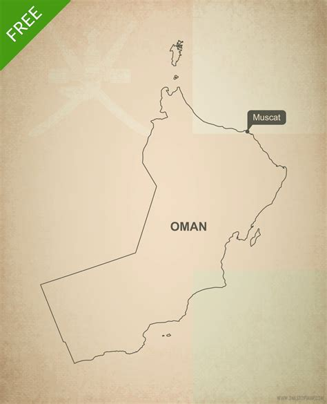 oman map vector free vector map of oman outline one stop map