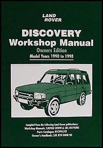 Land Rover Discovery Owners Shop Manual 1998 1997 1996