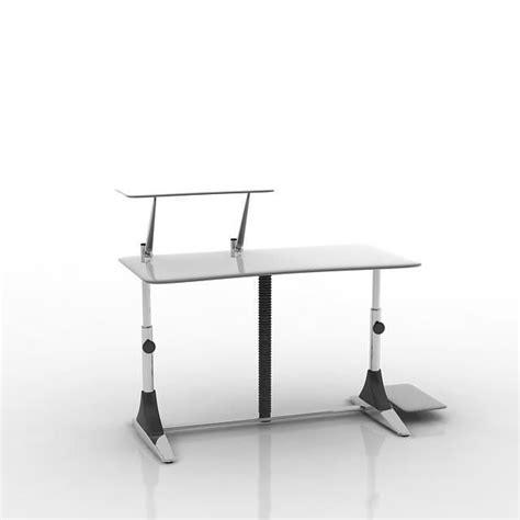 white modern computer desk white modern computer desk 3d model obj cgtrader