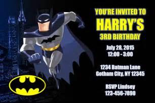 batman invitations general prints