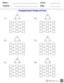 fact family worksheets fact family worksheets for practice