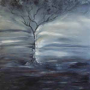 winter storm painting by lesley anne cornish
