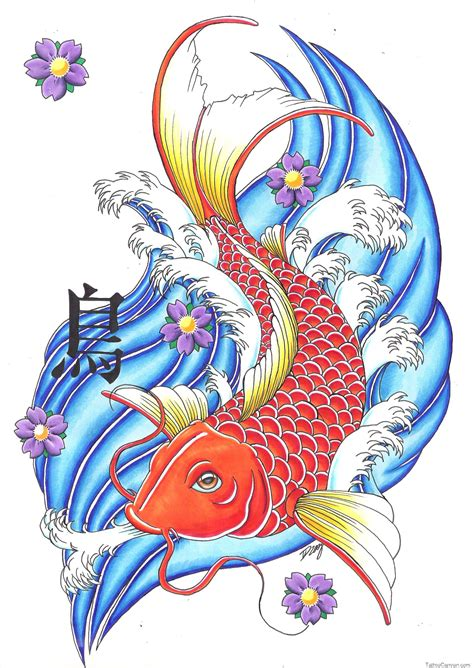 koi design tattoo koi fish tattoos