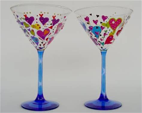 martini glass painting the martini painted martini glasses