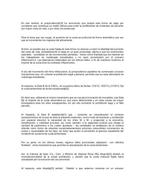 aumento cuota alimentaria jurisprudencia arvlexcom doctrina determinacion del quatum cuota alimentaria