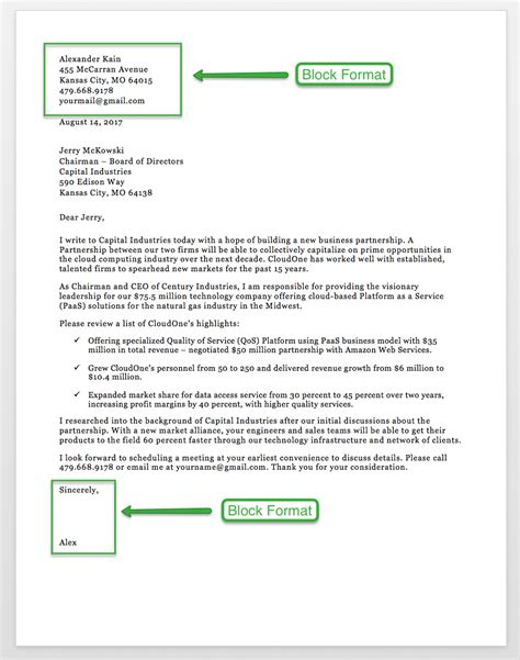 Typing A Business Letter Block Format sle business letter format 75 free letter templates rg