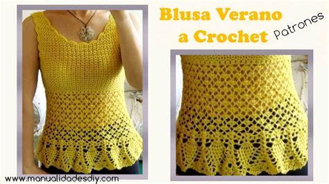 blusa tejida a crochet para verano parte 1 de 2 blusa con pi 241 as tejida a crochet manualidades y