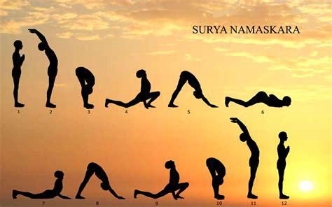 Surya Namaskaras | physiotherapy surya namaskar sun yoga the gayatri