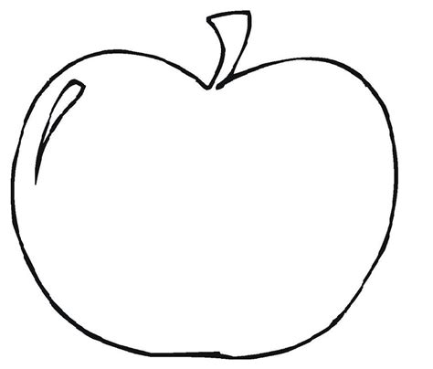 free printable coloring page of an apple printable apple template clipart best
