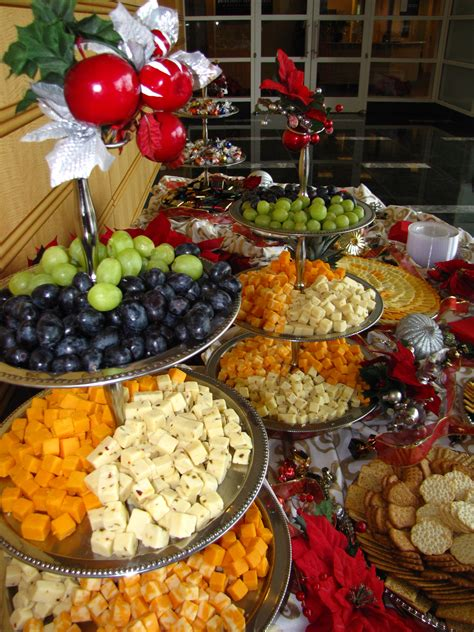 fruit and cheese display assorted cheese and fruit display table buffet and