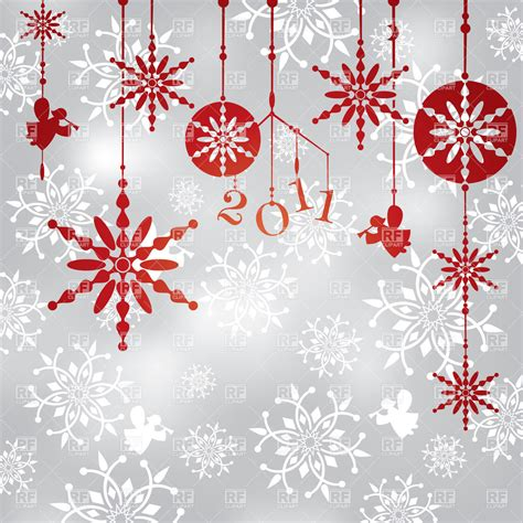 christmas background with hanging snowflakes angels and