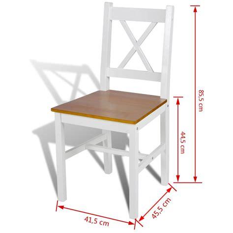 tavola e sedie sedia da tavola legno e colore naturale 2 pz