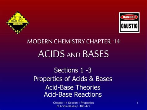 Ppt Modern Chemistry Chapter 14 Acids And Bases Ppt Of Acid