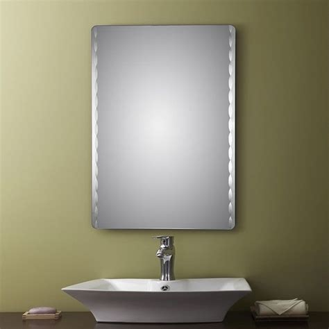 unframed bathroom mirrors decoraport frameless rectangle bathroom vanity wall