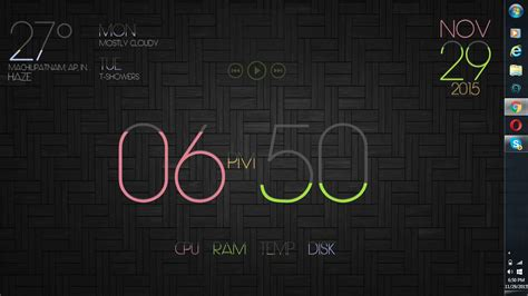 clock themes for laptop best windows 7 desktop customization clock and weather