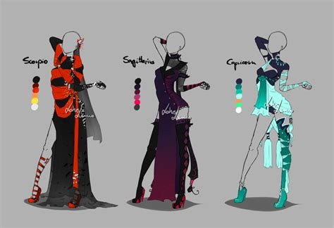 themes for clothing design outfit design zodiacs 4 closed by lotuslumino on