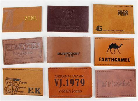 Faux Leather Label Sticker 100 custom leather labels faux leather labels pu leather