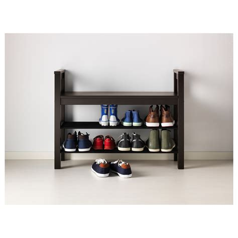 storage for shoes ikea hemnes bench with shoe storage black brown 85x32 cm ikea