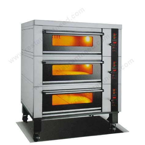Gas Deck Oven Stainless Hitech 3 Deck 6 Trays Arf 60h guangzhou commercial ovens bakery stainless steel k620 large scale 3 deck bakery oven view 3