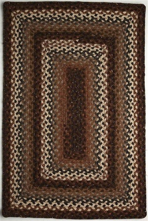 farmhouse area rugs braided rocky road oval 5 0 quot x8 oval brown rust area rug