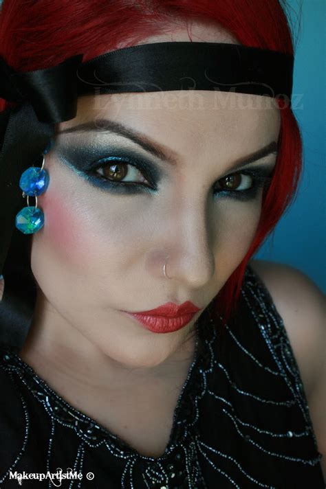 Make Up make up artist me 1920s dramatic makeup look
